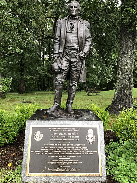 File:Nathanael Greene watching over the Revolutionary Fields of Valley Forge National Historic Park in Pennsylvania.jpg