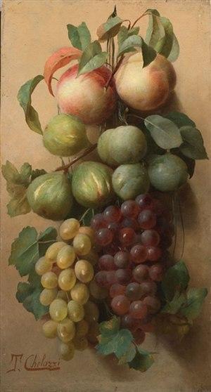 Tito Chelazzi - Still-life with Fruit