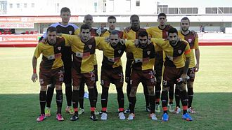 Nea Salamis Famagusta FC - Nea Salamis for the first time with the 65 years anniversary kit, which was the kit of the team the period 1948–1950. (2013–14 Cypriot Cup against Karmiotissa Polemidion).