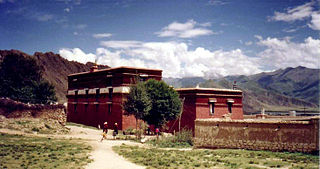 Nechung building in Lhasa, China