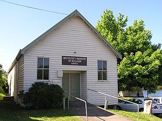Nelligen, New South Wales - Image: Nelligan Mechanics Institute 1903