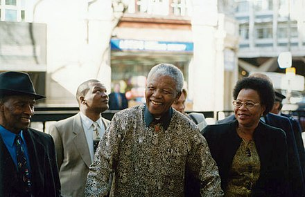 Mandela visiting the London School of Economics in 2000 Nelson Mandela, 2000 (4).jpg