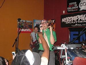 MC Frontalot - MC Frontalot performing at Nerdapalooza in July 2008.