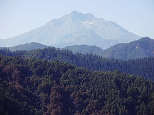 Central Chile - Nevado de Longaví is one of many volcanoes that, rises out of the Andes in Central Chile.