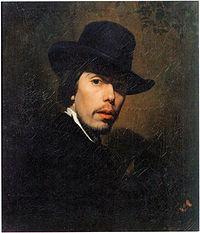 Автопортрет, (1858).