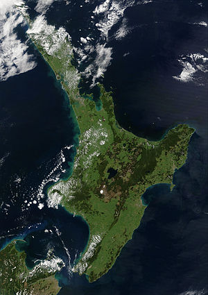 North Island - Satellite image of the North Island