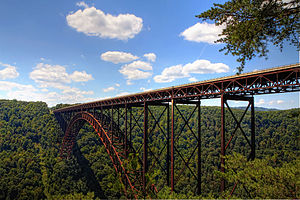 New River Gorge Bridge - View of the New River Gorge Bridge from the National Park Service Overlook