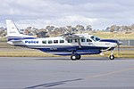 New South Wales Police Force (VH-DVV) Cessna Grand Caravan 208B EX taxiing at Wagga Wagga Airport (2).jpg