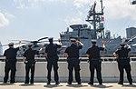 New York City Police officers way goodbye to USS Bataan (LHD 5) Sailors (27364962416).jpg