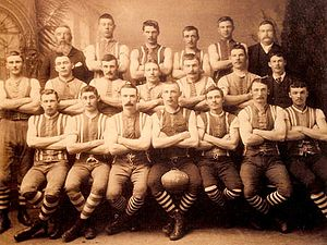 New Norfolk District Football Club - An early team of 1892.