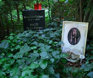 Nico - Nico's grave in Berlin
