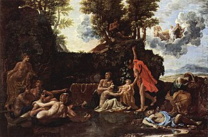 The Four Seasons (Poussin) - The Birth of Bacchus, 1657, Fogg Art Museum