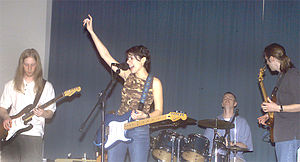 Armed Forces Entertainment - Niki Barr and her band in Japan in 2003.  Barr is typical of the non-celebrity musical acts selected by Armed Forces Entertainment, through its own audition screening process.
