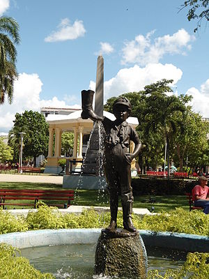 The Boy with the Leaking Boot - The statue in Parque Vidal, Santa Clara, Cuba