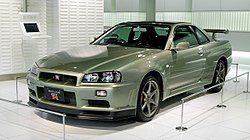 The Nissan Skyline GT-R in the R34 generation.