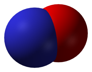 Spacefill model of nitric oxide