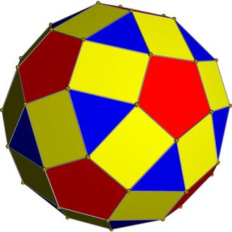 Great dirhombicosidodecahedron - Image: Nonuniform 2 rhombicosidodecahedr on