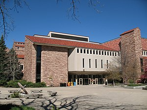 Norlin Library, rear entrance, on University o...