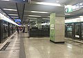 Northbound platform of Gongyixiqiao Station (20160516142456).jpg