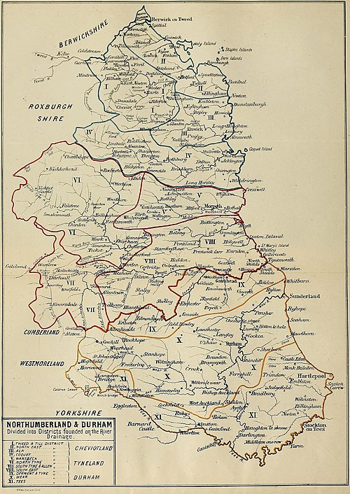 Northumberland & Durham Divided into Districts founded on the River Drainage 1867.jpg