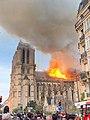 Notre-Dame en feu, Photo prise de la rue Lagrange.jpg