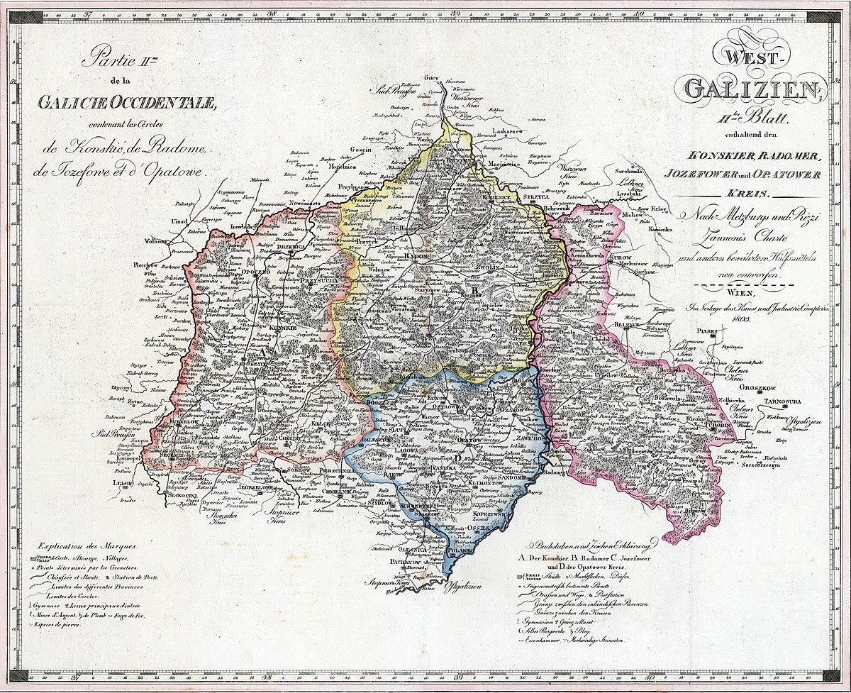 Plik Nowa Galicja Mapa Konskie Radom Jozefow Opatow 1803