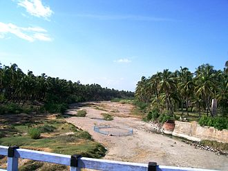 Noyyal River - The Noyyal River at Noyyal Cross.