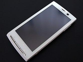 Sony Ericsson Xperia X10 - Image: Nttdocomo sonyericsson so 01b front