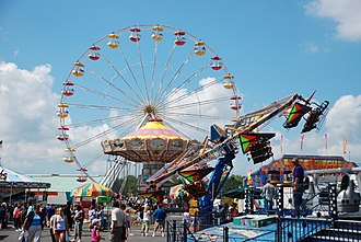 Great New York State Fair - Amusement rides on the Midway.