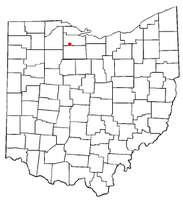Location of Burgoon, Ohio
