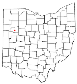 Location of Lima in the state of Ohio