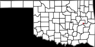 Eufaula, Oklahoma - Image: OK Map doton Eufaula