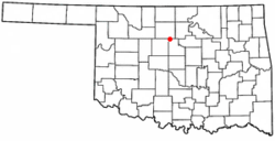 Location of Marshall, Oklahoma