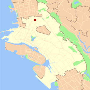 Rockridge, Oakland, California - Image: Oakland rockridge locator map
