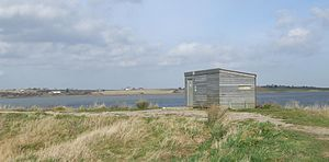 The Swale - Birdwatching hide on the Kent Wildlife Trust reserve at Oare Marshes