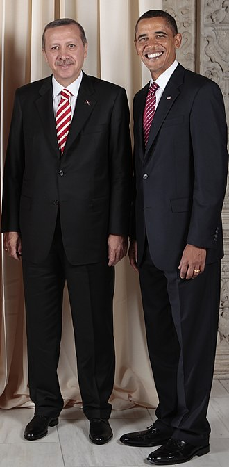 Suit (clothing) - U.S. President Barack Obama and Turkish Prime Minister Recep Tayyip Erdoğan wearing Western-style business suits.