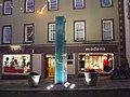 Obelisk at night, Omagh (2) - geograph.org.uk - 1093143.jpg