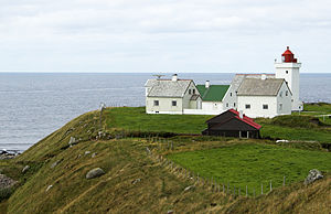 Obrestad Lighthouse - View of the lighthouse