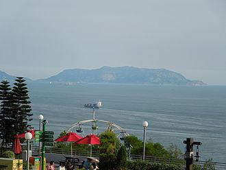 Wanshan Archipelago - Erzhou Dao, seen from Ocean Park Hong Kong.