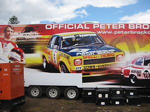 1975 Hardie Ferodo 1000 - The Official Peter Brock Merchandise Truck features an image of the 1975 Hardie Ferodo 1000 winning Holden L34 Torana
