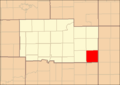 Ogle County Illinois Map Highlighting Dement Township.png