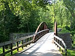 Ohio & Erie Canal Towpath at former lock and aqueduct over Cuyahoga River.JPG