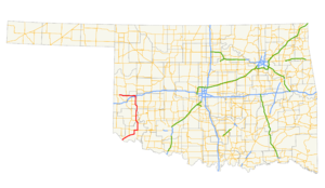 Oklahoma State Highway 6 - Image: Ok 6 path
