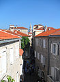 Old town of Budva, view from the city walls over street Njegos.jpg
