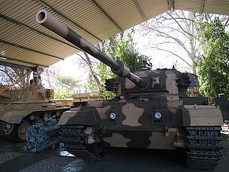 South African National Museum of Military History - A modified South African Centurion Tank