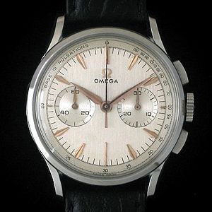 Omega SA - Omega medical chronograph with outer pulsations track, ca. 1951