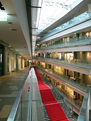 Omotesando Hills - Interior of the shopping mall