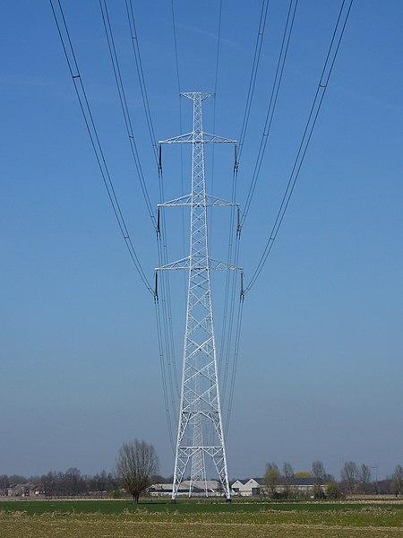 Onder hoogspanning; 380 kV lijn, Bornem