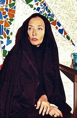 Oriana Fallaci in Tehran 1979