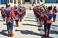 Orkiestra mongolskiej armii na placu Suche Batora w Ułan Bator 09.JPG